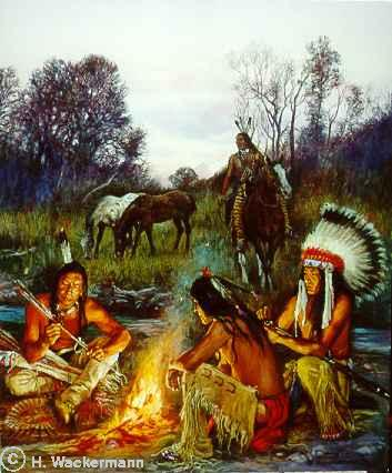 indians campfire