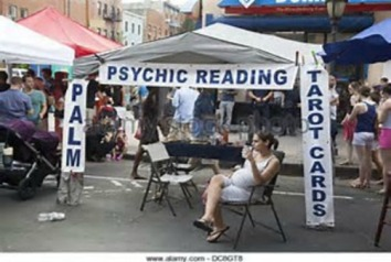 Psychic reader tent